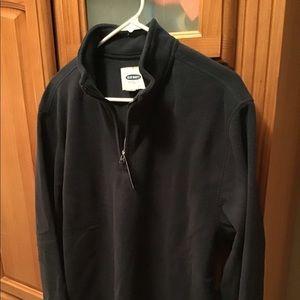 Men's Fleece Long Sleeve Shirt Black Size L NWT